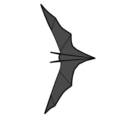 Papercraft Bat