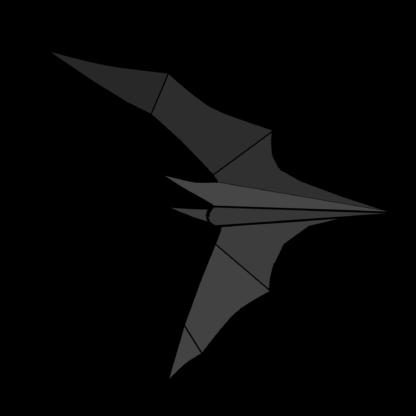 Folded Paper Bat